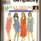 Simplicity Sewing Pattern 7162 Full Figure 18W-24W Woman's Jumper Dated 1996