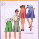 Simplicity Uncut Sewing Pattern 6017 Vintage1973 Misses / Woman's Skirts Size 16