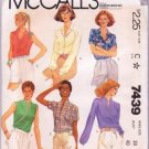 McCall's Sewing Pattern 7439 Misses Shirts / Blouses Vintage 1981 Uncut Size 18 Bust 40