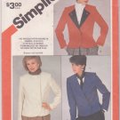 Simplicity Pattern 6158 Misses Unlined Jacket 1983 Uncut Sizes 12-16