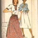 Butterick 5325 Sewing Pattern Misses Wrap Skirt w/ Top Size 12 Uncut