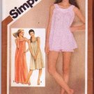 Simplicity 9877 Vintage Sewing Pattern Misses' Nightgown & Baby Dolls Size 14-16 ©1980