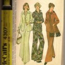 McCall's Pattern 4307 Misses Shirt-Jacket Pants & Scarf Size 14 ©1974