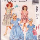 McCall's Vintage Girls Gown & Dress Sewing Pattern 6926 Dated 1988 Size 12