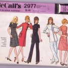 McCall's 2977 Vintage Asymmetrical Dress Tunic and Pants Pattern Size 12 Dated 1971