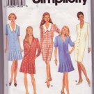 Simplicity 8536 Pattern Misses / Miss Petite Drop-Waist or Straight Dress Sizes 18-24 Dated 1993