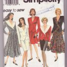 Vintage 1992 Simplicity Pattern 8058 Woman's Flared Skirt Semi-Fitted Lined Jacket