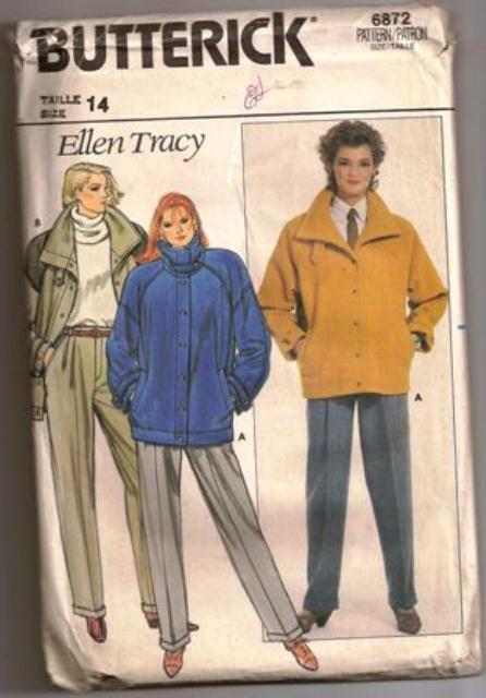 Butterick Pattern 6872 Vintage Ellen Tracy Misses Jacket and Pants Size 14