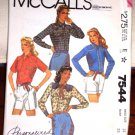 McCall's Pattern 7544 Vintage Western Women's Shirt Size 14