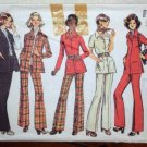 Vintage Simplicity Pattern 5247 Misses Shirt Jacket Pants Size 10 © 1972