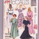 McCalls 4707 Pattern Easy Misses Dress Uncut Collar Variations Sizes 14-18 Vintage 1990