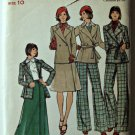 Butterick Sewing Pattern 3649 Womens Jacket Skirt Pants Vintage Uncut 1970s