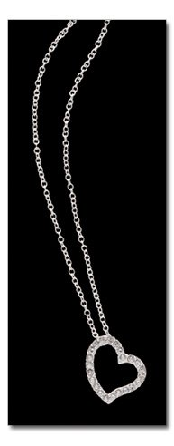 """Silverplated Pendant with 23 crystals hung on an 18"""" chain"""