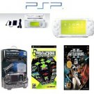 "Sony PSP ""Limited Edition"" Ceramic White ""Star Wars Bundle"" - 21 Games + PSP Car Kit"
