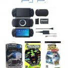 "Sony PSP Black ""Super Mega Bundle"" - 41 Games + PSP Car Kit"