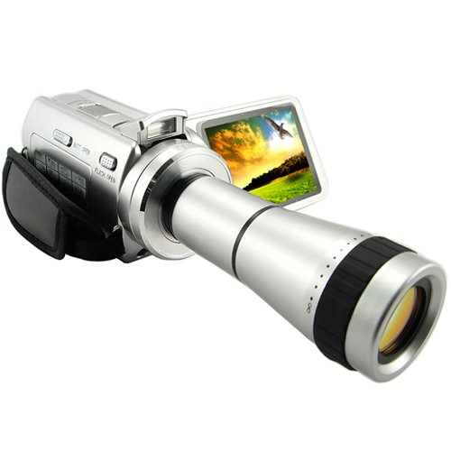 Digital Camcorder With Optical Telescope Zoom Len