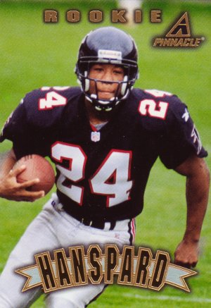 Byron Hanspard Rookie Pinnacle 1997 Trading Card Atlanta Falcons