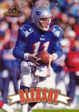 Drew Bledsoe Pinnacle 1997 Football Trading Card Patriots