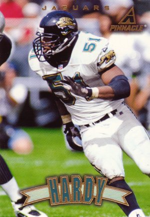 Kevin Hardy Pinnacle 1997 Football Trading Card Jaguars