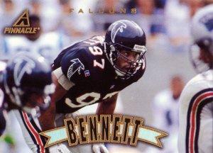 Cornelius Bennett Pinnacle 1997 Football Trading Card Falcons