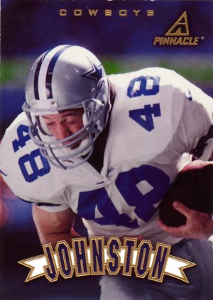 Daryl Johnston Pinnacle 1997 Football Trading Card Cowboys
