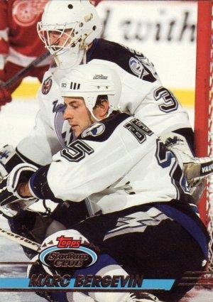 Hockey Trading Card Marc Bergevin Topps Stadium Club 1993 Lightening