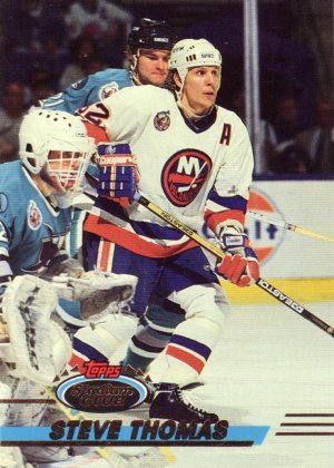 Steve Thomas Topps Stadium Club 1993 Hockey Trading Card Islanders