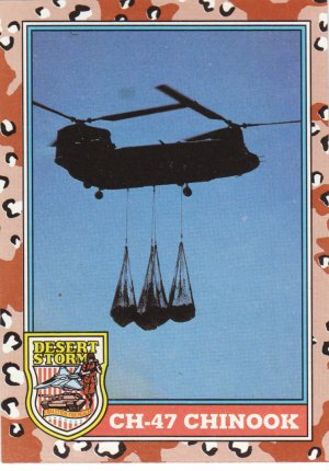 Desert Storm Trading Card Topps 1991 2nd Series CH47 Chinook