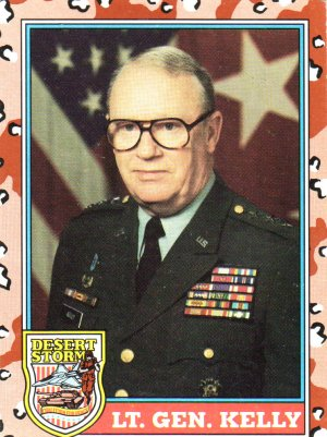 Desert Storm Trading Card Topps 1991 2nd Series Lt Gen Kelly