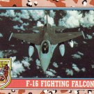 Desert Storm Trading Card Topps 1991 2nd Series F 16 Fighting Falcon