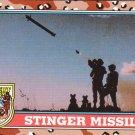 Desert Storm Trading Card Topps 1991 2nd Series Stinger Missile