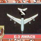Desert Storm Trading Card Topps 1991 2nd Series E3 AWACS