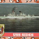 Desert Storm Trading Card Topps 1991 2nd Series USS Sides