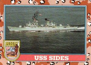 Desert Storm Trading Card Topps 1991 2nd Series USS Sides