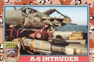 Desert Storm Trading Card Topps 1991 2nd Series A6 Intruder