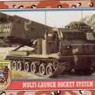 Desert Storm Topps 1991 Trading Card 2nd Series Multi Launch Rocket System