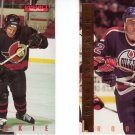 Hockey Rookie Trading Cards Lot of 2 Daniel Alfredsson, Kiroslav Satan Skybox 1995-96