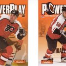 Hockey Trading Cards Lot of 2 PowerPlay insert cards John LeClair, Mikael Renberg Skybox 1995-96