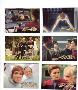 Star Trek Voyager Trading Cards 1995  Cards #31 - 36
