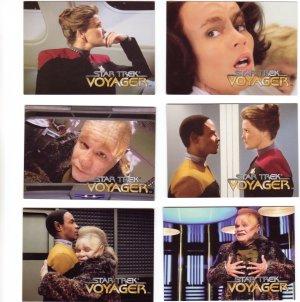 Star Trek Voyager Trading Cards 1995  Cards #37 - 42