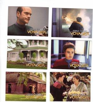 Star Trek Voyager Trading Cards 1995  Cards #21, 22, 23, 26, 27, 28