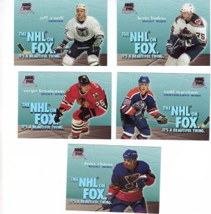 Trading Cards 95/96 SKYBOX Hockey 5 INSERTS NHL on FOX