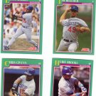 Los Angeles Dodgers Baseball Trading Cards Lot of 4 Score 1991
