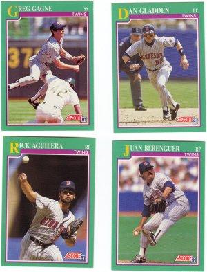 Minnesota Baseball Trading Cards Lot of 4 Score 1991