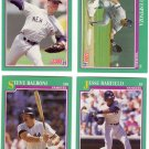 New York Yankees Baseball Trading Cards Score 1991 Lot of 4