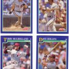 Baseball Trading Cards Philadelphia Phillies Score 1991 Lot of 4
