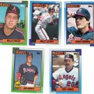 Baseball Trading Cards California Angels Lot of 5 Topps 1990