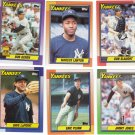 New York Yankees Baseball Trading Cards Topps 1990 Lot of 6