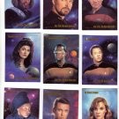Star Trek Trading Cards Skybox 1993 Cards #9 thru 17