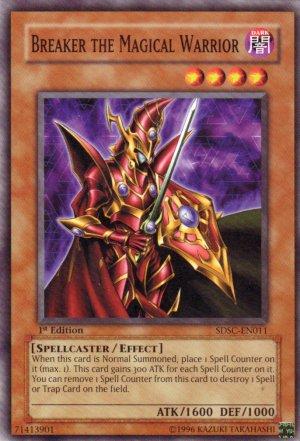 YuGiOh Trading Card Breaker the Magic Warrior SDSC EN011 1st Edition
